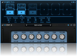 Blue Cat's Axiom - Control built-in or third party effects directly from the main screen