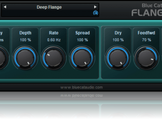 Blue Cat's Flanger - Classic Flanging Effect Audio Plug-in (VST, AU, RTAS, AAX, DirectX) (Freeware)