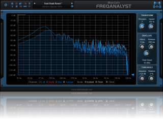 Blue Cat's FreqAnalyst - Real Time Spectrum Analysis Plug-in (VST, Audio Unit, RTAS, AAX, DX) (Freeware)