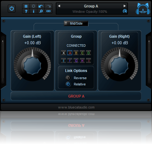 Blue Cat's Gain Suite - Simple Mono, Stereo and Mid-Side MIDI Controllable Gain Plug-ins (VST, AU, VST3, AAX) (Freeware)