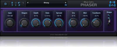 Blue Cat's Phaser - Analog Modeled Phasing Effect Plug-in (VST, AU