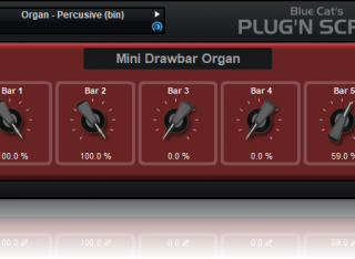 Blue Cat's Plug'n Script - Write your own Virtual Instruments: included drawbar organ example (additive synthesis).