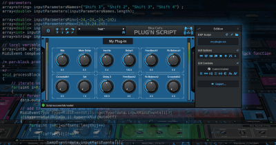 Blue Cat's Plug'n Script - Scriptable audio / MIDI effects processor