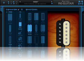 Blue Cat's Re-Guitar - Guitar Pickup And Body Simulator (VST, VST3, AAX and Audio Unit Plug-in)