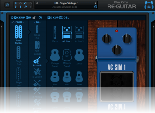 Blue Cat's Re-Guitar - Acoustic simulation pedals