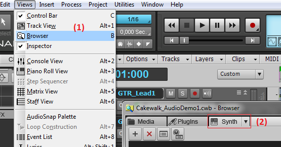 Tutorial - Connecting Plug-ins with Groups in Cakewalk Sonar