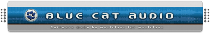 Blue Cat Audio - Software Made by Musicians for Musicians