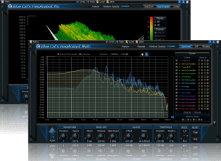 Blue Cat's FreqAnalyst Pack - Real Time Spectrum and Frequency Analysis Plug-ins Bundle (VST, DX, AU, RTAS)