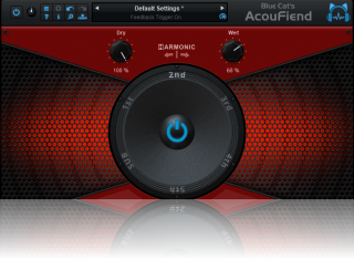 Blue Cat's AcouFiend - Creative Acoustic Feedback Simulator Plug-in (VST, VST3, AAX and Audio Unit)