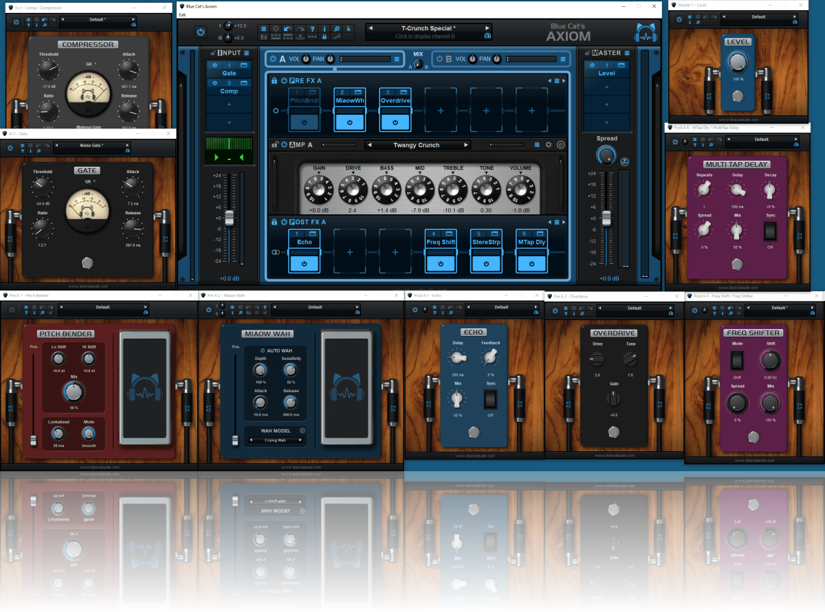 Blue Cat's Axiom - 40 high quality built-in plug-ins to choose from, or load any third party VST,VST3 or AU plug-in