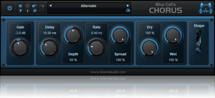 Blue Cat's Chorus - Smooth Chorus Effect (AU, VST, RTAS, AAX and DX Plug-in) (Freeware)