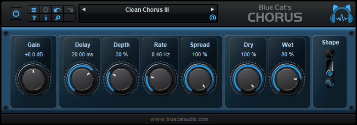 Smooth Chorus Effect DirectX and VST plugin (Freeware)