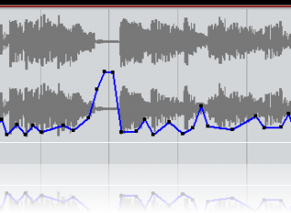 Blue Cat's DP Meter Pro - Inverted Envelope Generated by the DPMP in Steinberg Cubase