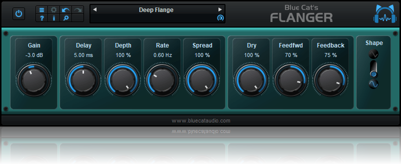Blue Cat's Flanger x64 screenshot