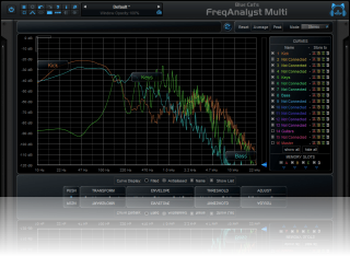 Blue Cat's FreqAnalyst Multi - Real Time Multi Tracks Spectrum Analyzer (AU, DX, AAX, RTAS and VST Plug-in)