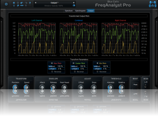 Blue Cat's FreqAnalyst Pro - Modify and monitor the output parameters: min, max and center frequency.