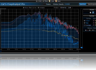 Blue Cat's FreqAnalyst Pro - Memory slots let you save curves and restore them later for comparison.