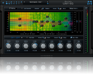 Blue Cat's Liny EQ - Low Latency Linear Phase Equalizer Plug-in (VST, Audio Unit, AAX, RTAS, DX)