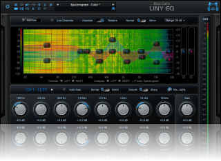 Blue Cat's Liny EQ - Low Latency Linear Phase Equalizer Plug-in (VST, Audio Unit, AAX, VST3)