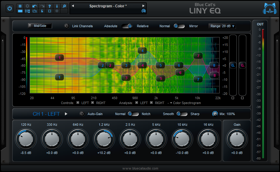 Click to view Blue Cat's Liny EQ 5.1 screenshot