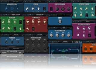 Blue Cat's MB-7 Mixer - Inludes 25 top notch built-in audio effects for multiband processing: EQ, compressor, gate, ducker, flanger, phaser, delays...