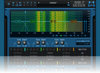 Blue Cat's MB-7 Mixer - Multiband VST hosting: each band can host up to 4 external VST plug-ins.