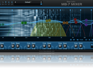 Blue Cat's MB-7 Mixer - The 'Dual' version of the plug-in lets you process separately the left and right or mid and side channels.