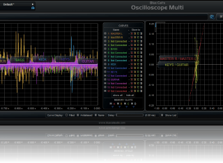 Blue Cat's Oscilloscope Multi - The new dual screen mode lets you see both the waveforms and the XY comparison screen.