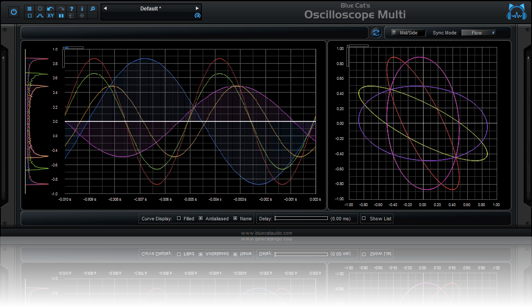 Blue Cat's Oscilloscope Multi - Real Time Multi Tracks Waveform Analyzer Plug-in (VST, AU, RTAS, AAX, DX)