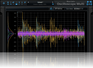 Blue Cat's Oscilloscope Multi - Choose the small display size to gain real estate on the screen.