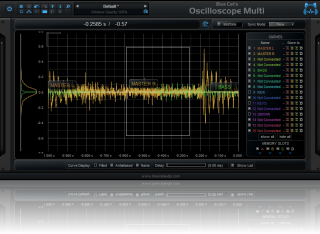Blue Cat's Oscilloscope Multi - Select an area to zoom the waveform, right click to unzoom completely.