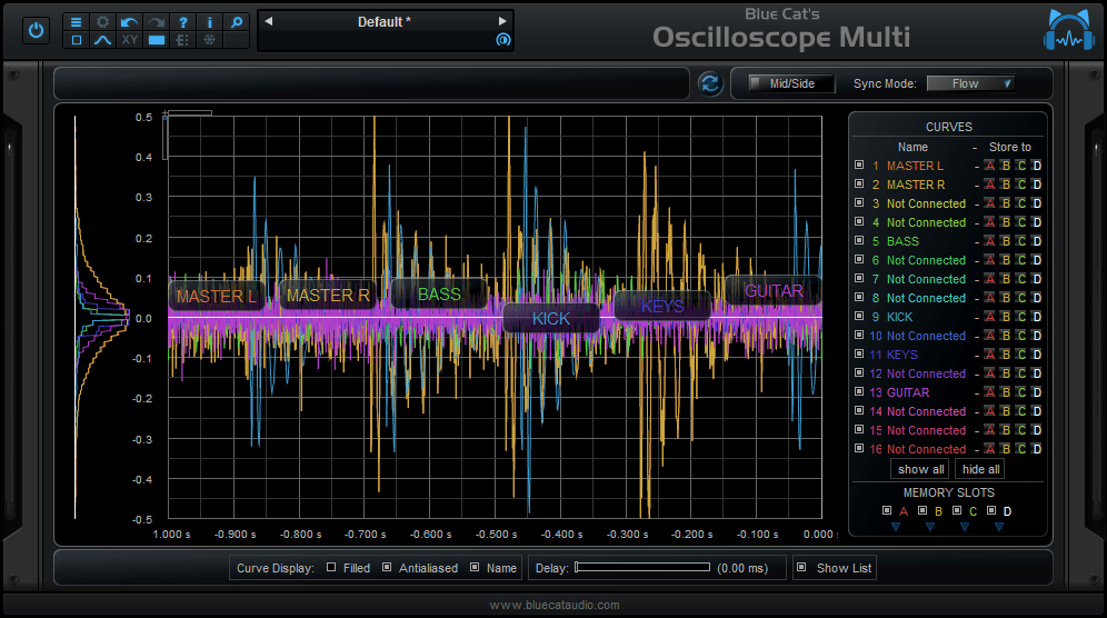 Blue Cat's Oscilloscope Multi x64 screenshot