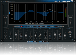 Blue Cat's Parametr'EQ - Several skins included. Choose the layout that best suits your workflow!