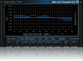 Blue Cat's Parametr'EQ - WYSIWYG Parametric Equalizer Plugin (VST, AU, RTAS, DX)