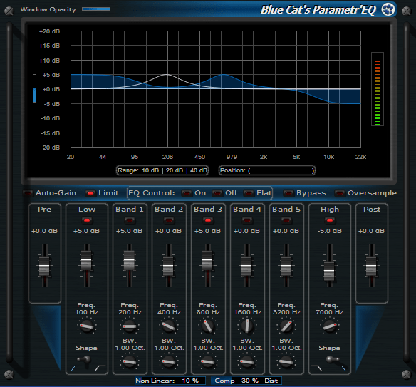 Click to view Blue Cat's Parametr'EQ 3.52 screenshot