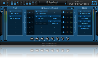 Blue Cat's PatchWork - Fully Configurable Plug-Ins Chainer / Standalone Host or Plug-In
