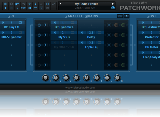 Blue Cat's PatchWork - Fully Configurable Plug-Ins Chainer and Multi FX / Standalone Host or Plug-In
