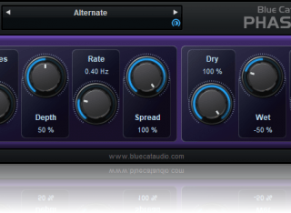 Blue Cat's Phaser - Analog Modeled Phasing Effect Plug-in (VST, AU, RTAS, AAX, DX) (Freeware)