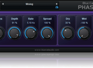 Blue Cat's Phaser - Analog Modeled Phasing Effect Plug-in (VST, AU, VST3, AAX) (Freeware)