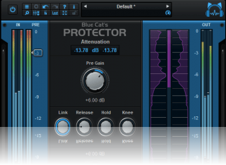 Blue Cat's Protector - Fully configurable user interface with included premium metering.