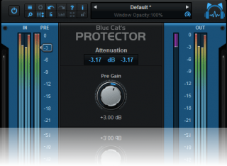 Blue Cat's Protector - Brickwall Limiter Plug-in (VST, AU, AAX, VST3)