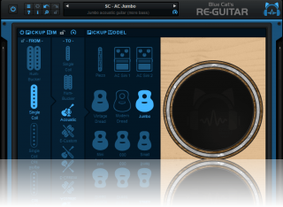 Blue Cat's Re-Guitar - Transform your solid body into an acoustic guitar.