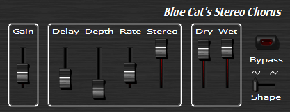 Wide Stereo Chorus Effect Plugin (VST, Audio Unit, DirectX) (Freeware)