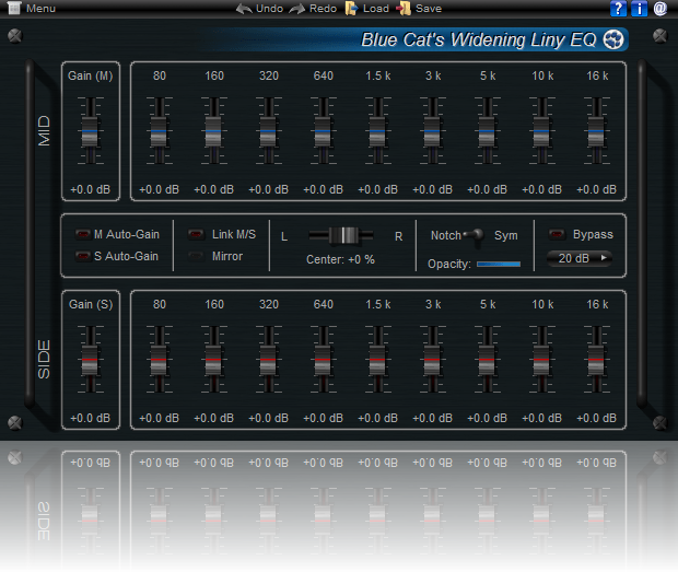 Blue Cat's Widening Liny EQ screenshot