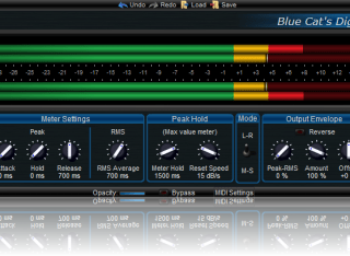 Big Meters (v3) Skin for Blue Cat's DP Meter Pro, by Blue Cat Audio