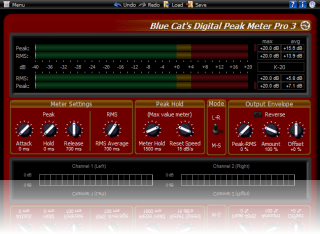Red Box (v3) Skin for Blue Cat's DP Meter Pro, by Blue Cat Audio