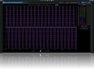 Large Screen (for V1) Skin for Blue Cat's Oscilloscope Multi, by Blue Cat Audio