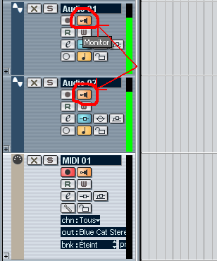 Step 10 - Enable input echo on both tracks and play - the source track triggers the target track chorus parameters in real time