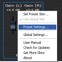 Step 06 - Open the presets settings window of the gain plugin