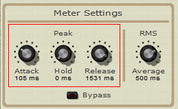 Step 12 - Adjust the peak envelope time parameters to control how the music fades in or out